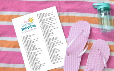 100 Summer Activities To Do At Home