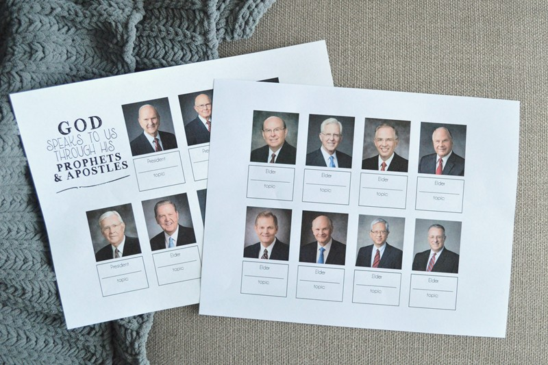 apostles general conference activity for kids