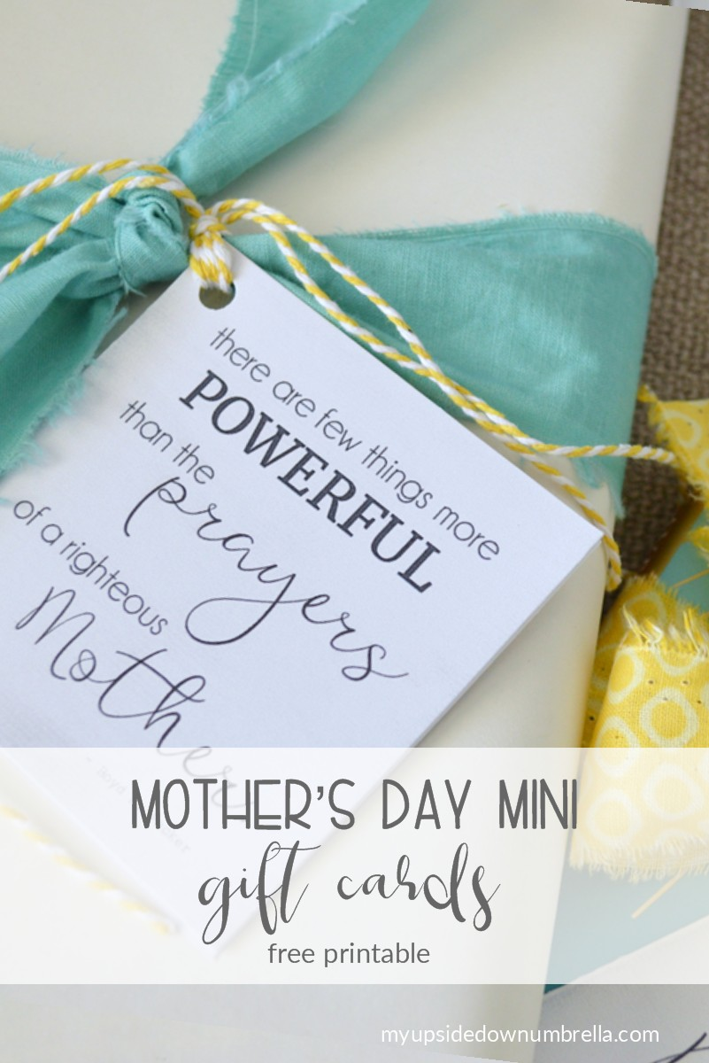 mini mothers day cards free printable