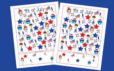 4th of July I Spy Printable