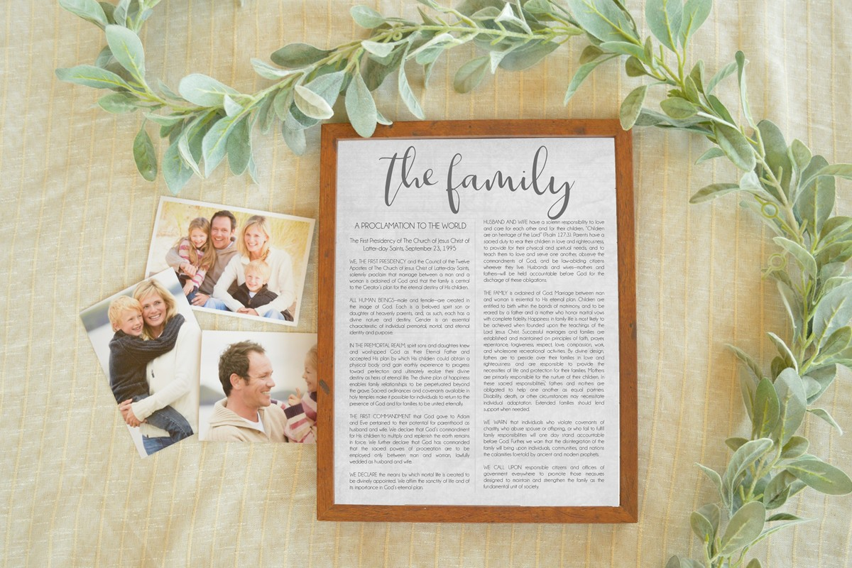proclamation on the family printable free