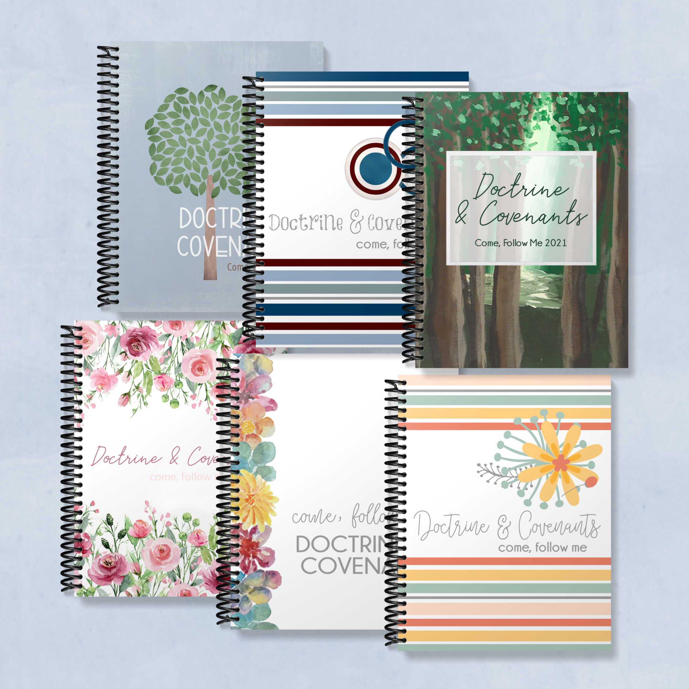 come follow me 2021 Doctrine and Covenants journals, family pack