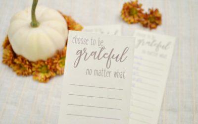 Choose to be Grateful – Thanksgiving Gratitude List