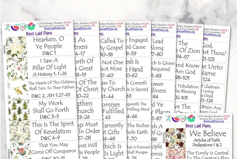 doctrine and covenants planner stickers