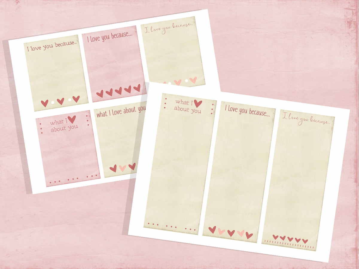 what i love about you note card for ministering valentines day
