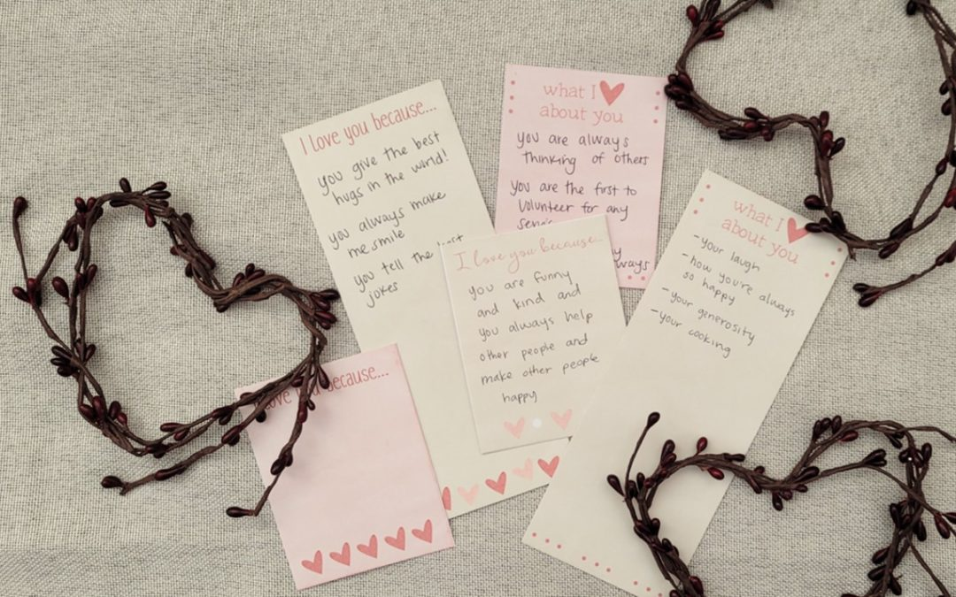I Love You Because … Free Printable Valentine's Day Notes