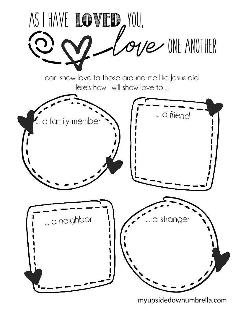 valentines day printable as i have loved your