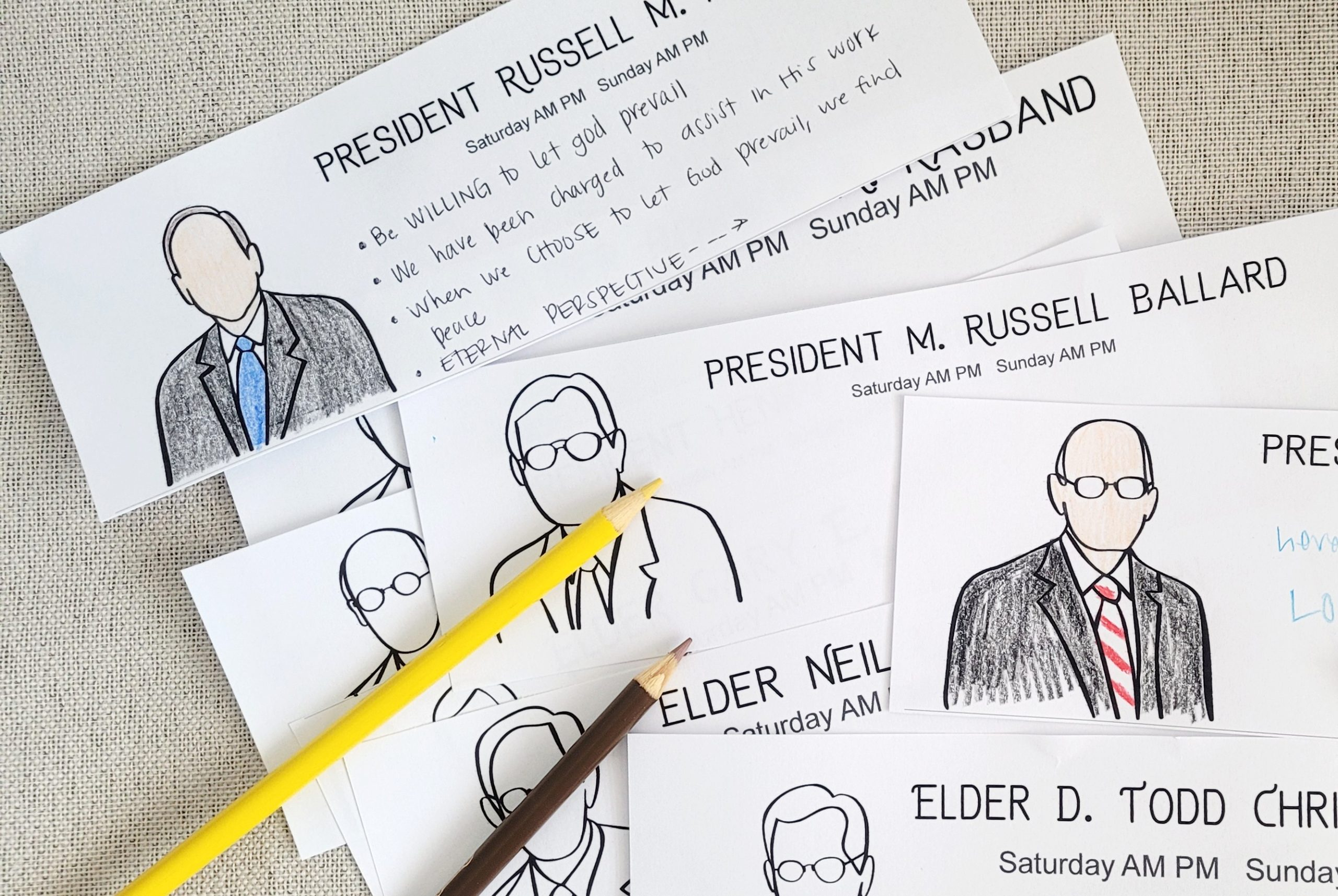 general conference coloring activity