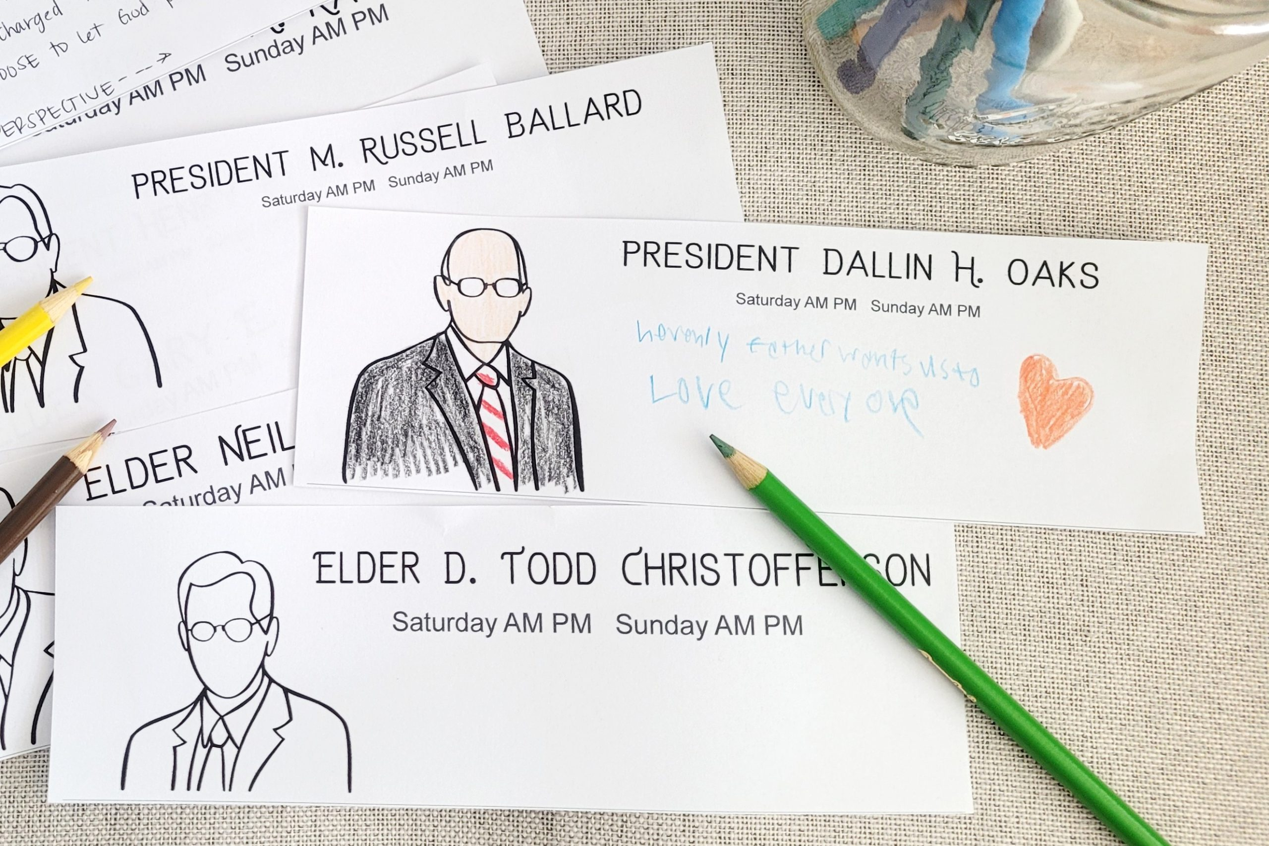 coloring activity for lds general conference