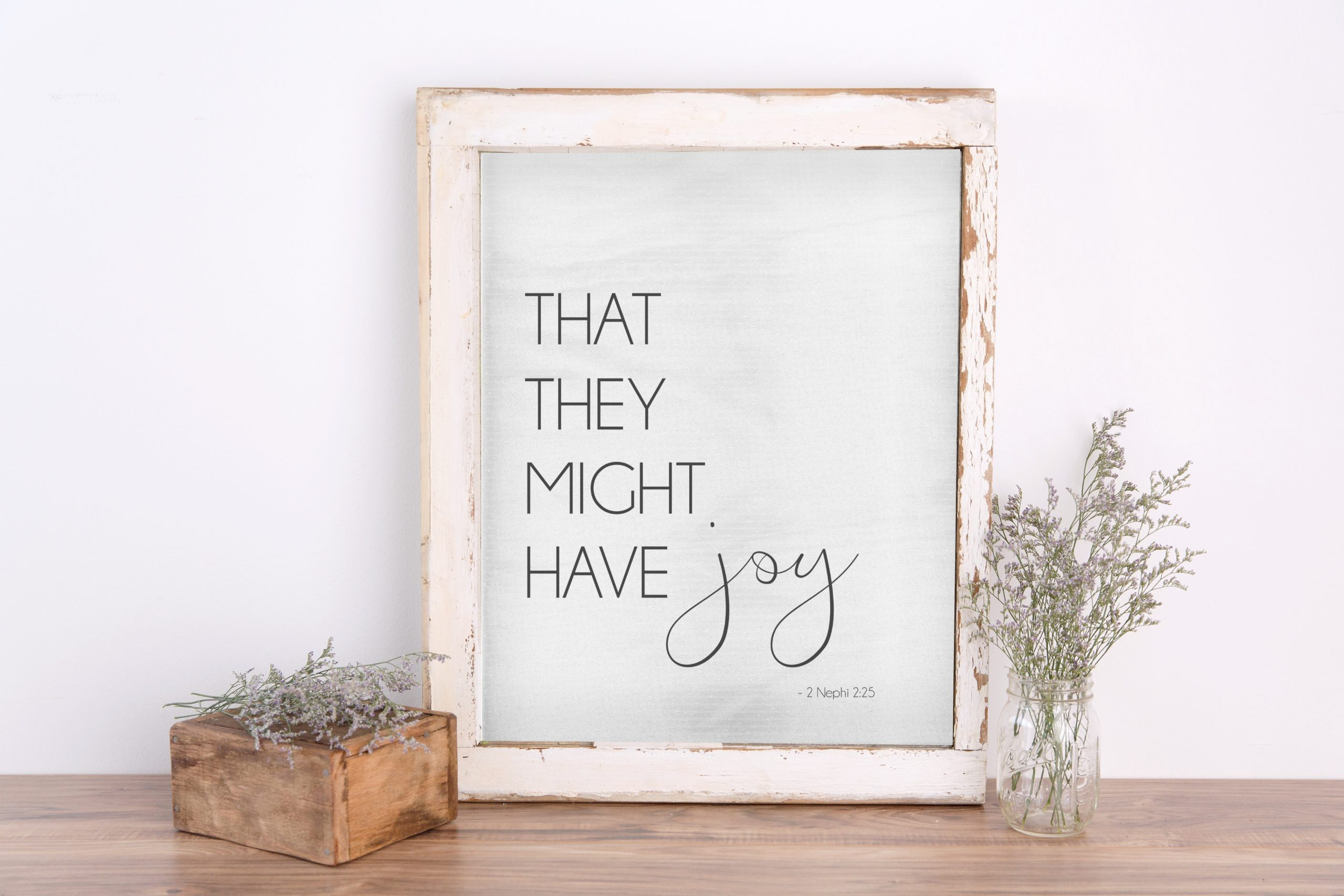 that they might have joy latter day saint printable