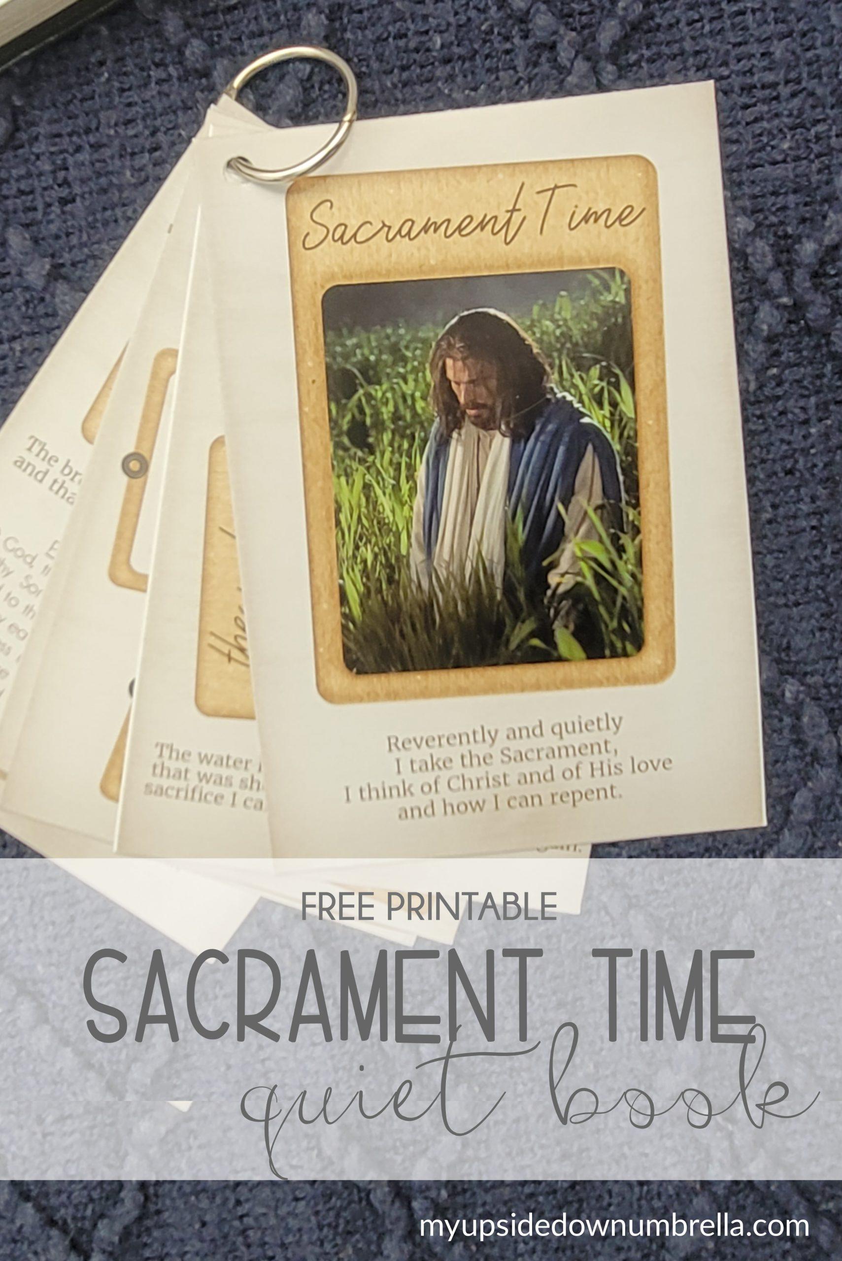 sacrament time quiet book, lds quiet book for FHE or come follow me