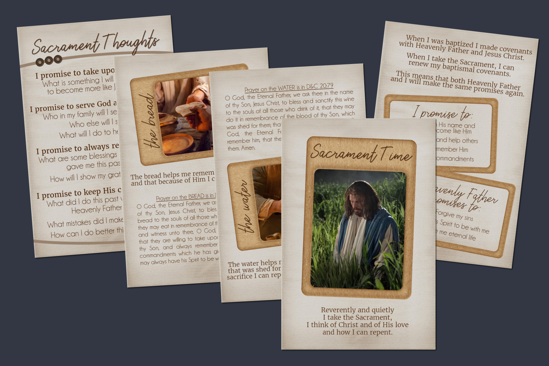 sacrament time quiet cards, quiet book for sunday sacrament