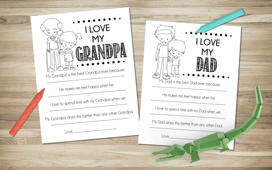 I Love my Dad – Father's Day Printable