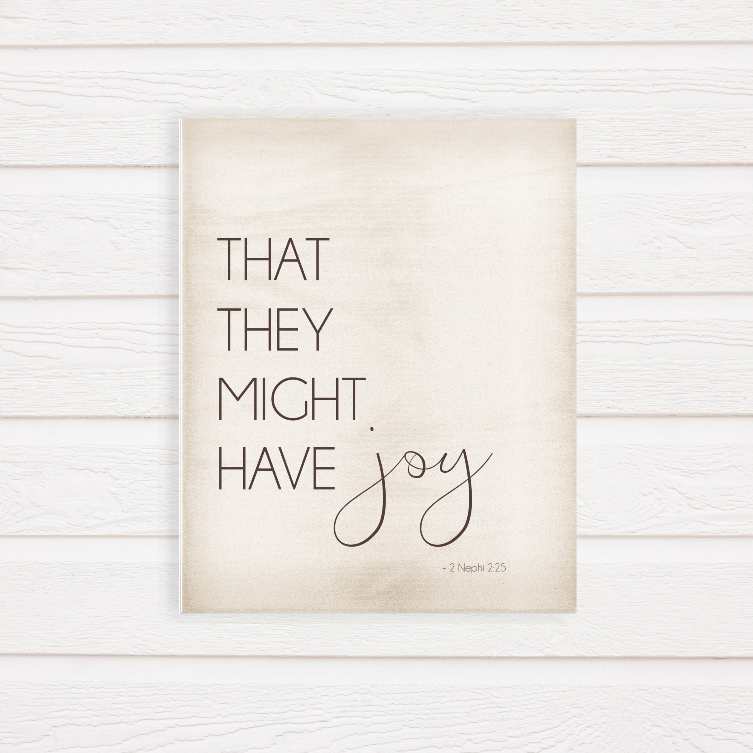 that they might have joy printable