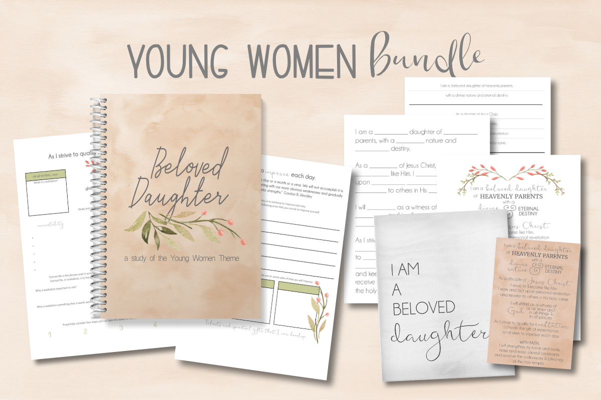 YW theme workbook for lds young women, i am a beloved daughter study guide